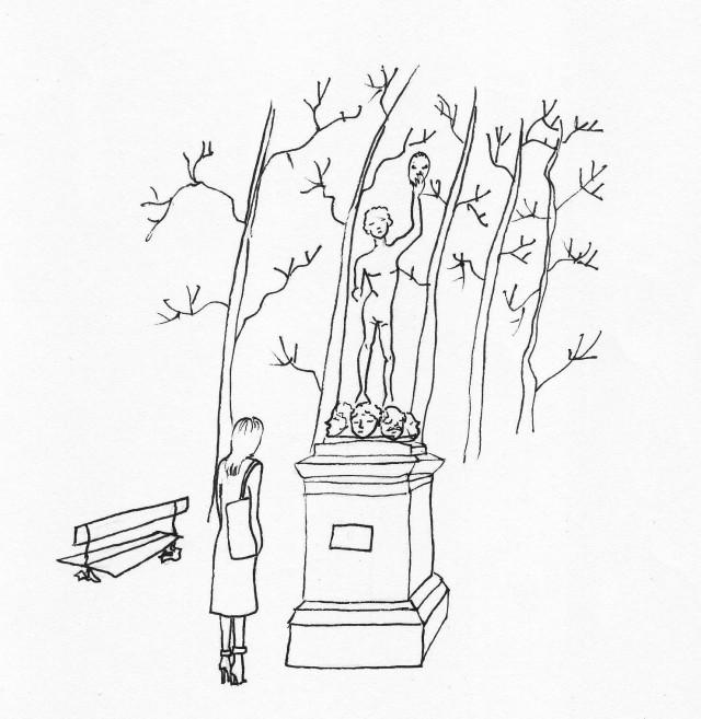 illustration jardin du luxembourg