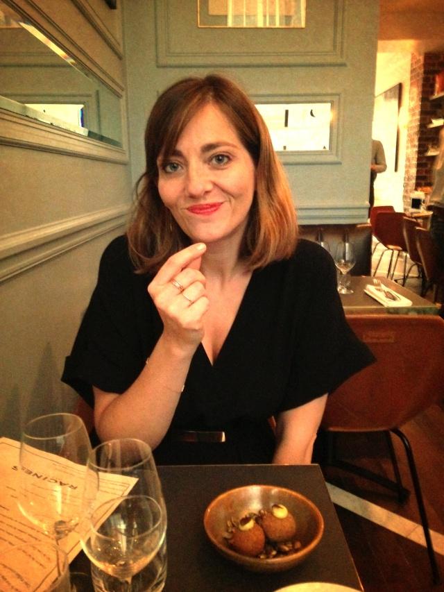 Celine at dinner